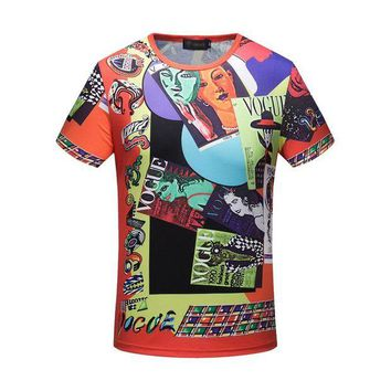 DCCKGSQ versace man or woman fashion casual pattern print shirt top tee