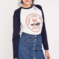 Peace and Love Baseball Tee - Urban Outfitters