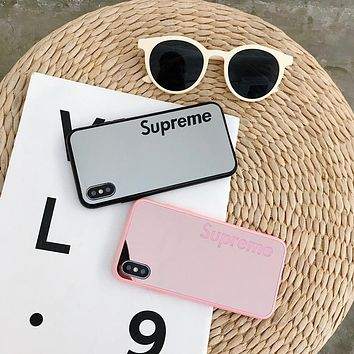 Supreme Mirror Cover Case For Iphone 7 7plus 8 plus XS MAX XR