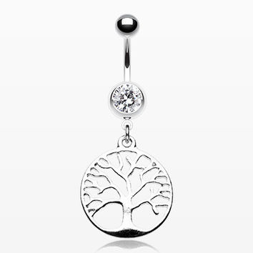 The Tree of Life Belly Button Ring