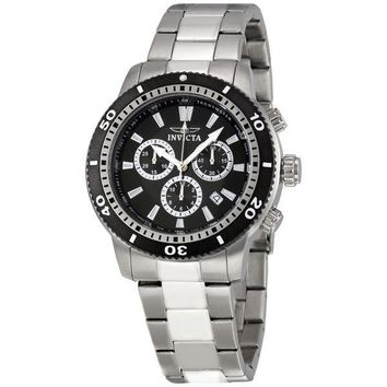 Invicta II Sport Black Dial Stainless Steel Mens Watch 1203-3BB