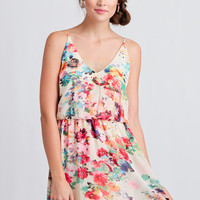Ethereal Bouquet Floral Dress