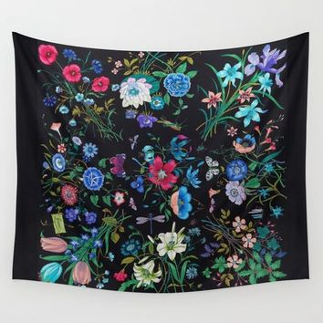 WILD FLOWERS Wall Tapestry by Salome