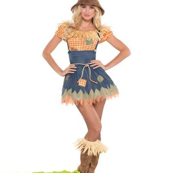 Adult Sultry Scarecrow Costume- Party City