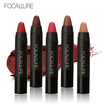 FOCALLURE High Quality 19 Colors Waterproof Lipstick Long Lasting Lip stick Easy to Wear Cosmetic Nude Makeup Lips