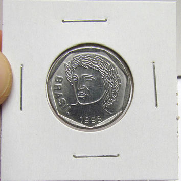 Vintage Coin, Brazil, 25 Centavos, 1995 (You Grade) ( In 2X2 Holder)