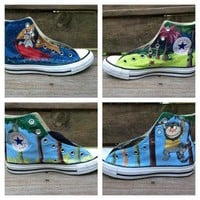 Where the Wild Things Are Custom Hand Painted Converse Shoes