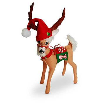 Annalee Dolls 2016 Christmas 12in Santa's Magic Reindeer Plush New with Tags