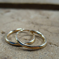 Illusion Hoop Earring 14k Gold Filled Plain 12 Gauge