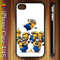 Thrown Up Despicable Me Minions Banana Apple iPhone 4/4S Hard Case