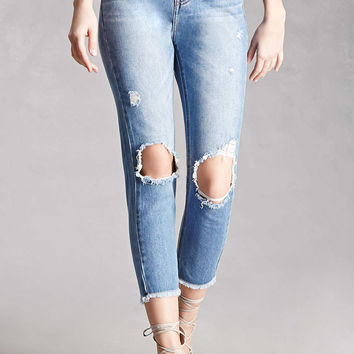 Momokrom Distressed Ankle Jeans