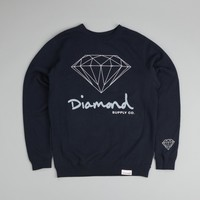 Diamond OG Brilliant Crewneck Sweatshirt Navy
