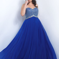 Embellished Bodice Plus Size Too Prom Dress by Blush 11050W