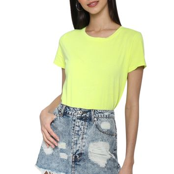 Jac Parker Neon Yellow Tee