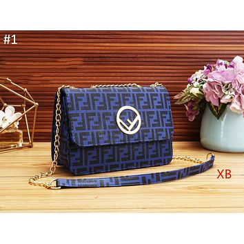 Fendi 2018 autumn and winter new classic double F printed letters casual fashion shoulder bag #1