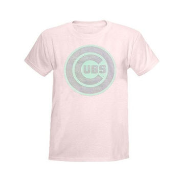 Chicago Cubs Pink YOUTH T-Shirt by Stitches