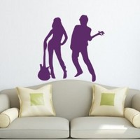 Wall Decals Rock Stars Decal Vinyl Sticker Home Decor Bedroom Interior Music Studio Window Decals Art Murals Chu1320