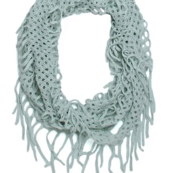 With Love From CA Lurex open Knit Infinity Scarf - Womens Scarves