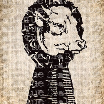 Antique Cow Farm Farmyard Dairy Ribbon Fair Digital Download for Tea Towels, Papercrafts, Transfer, Pillows, etc Burlap No 6059