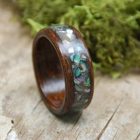 African Chocolate Brown Mahogany Bentwood Ring by chasingvictory