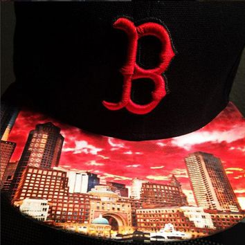Boston Red Sox Authentic New Era Snapback or Fitted Cap with Boston custom