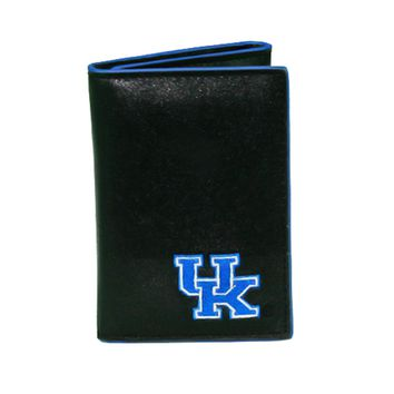 Kentucky Wildcats Men's Designer Leather Tri-Fold Wallet