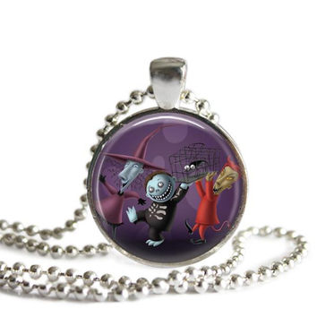 The Nightmare Before Christmas Lock Shock and Barrel Necklace