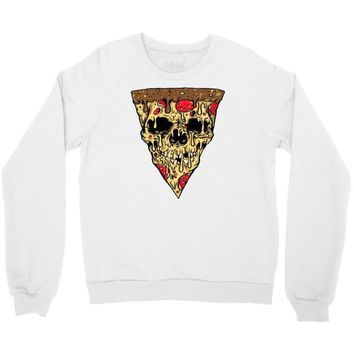 pizza skull Crewneck Sweatshirt