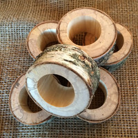 40 Natural Reclaimed Birch Wood Napkin Rings, Rustic Napkin Rings, Woodland Wedding Decor, Rustic Napkin Holder, Natural Rustic Wood Holders