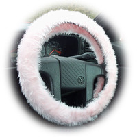 baby pink fluffy furry fuzzy cute car steering wheel cover girly girl