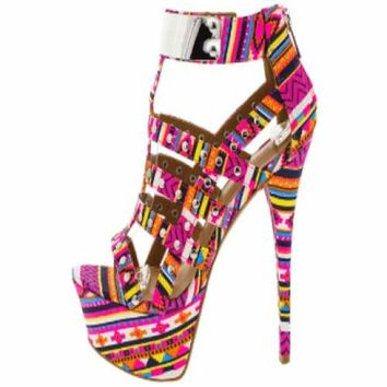 Women's Dollhouse Aztec Guardian High Heel Pumps