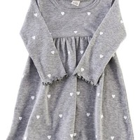 Peek 'Heart' Long Sleeve Dress (Baby Girls) | Nordstrom