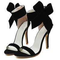 Fashion Women high heel shoes women pumps Peep toe Thin heel Bow tie Black Red Green summer party shoes