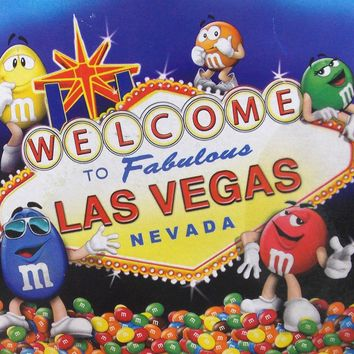 "M&M's World Blanket Throw Las Vegas Welcome Sign 60"" x 50"" Plush Licensed Fleece"
