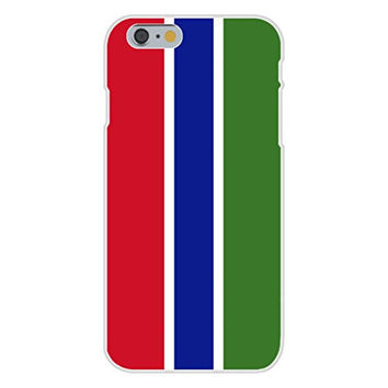 Apple iPhone 6 Custom Case White Plastic Snap On - Gambia - World Country National Flags