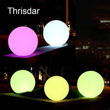 7 Color RGB LED Floating Magic Ball Led illuminated Swimming Pool Ball Light