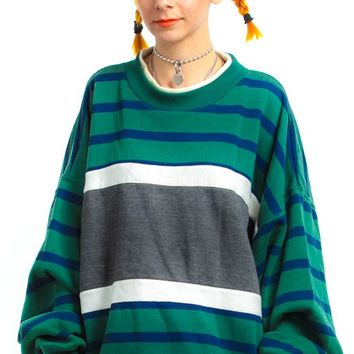 Vintage 90's Claybrooke Striped Pullover - One Size Fits Many