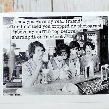 I Knew You Were My Real Friend Funny Vintage Style Happy Birthday Card FREE SHIPPING