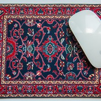 Deep Blue Turkish Rug Made in USA Mouse Pad