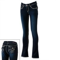 Hydraulic Studded Bootcut Jeans - Juniors