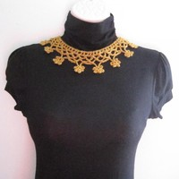 Crochet Neck Choker - Yellow (nc1)