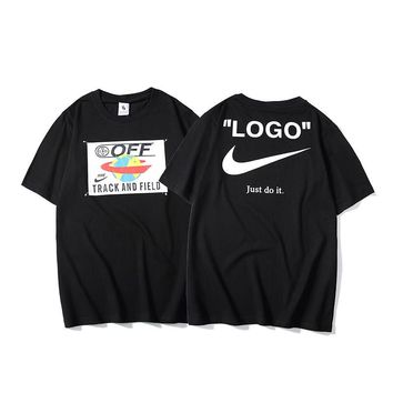 HCXX 19May 2257 Nike Off White Big Logo Just do it Casual T-shirt