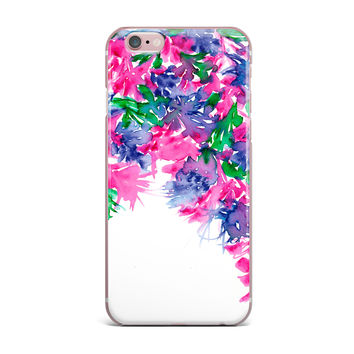 "Ebi Emporium ""Floral Cascade 1"" Pink Green iPhone Case"