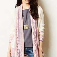 Jacquard Striped Cardigan