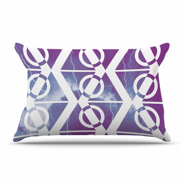 "Matt Eklund ""Mana Storm"" Purple White Pillow Case"