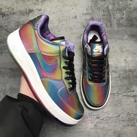 Nike Air Fashion Women Running Sport Casual Shoes Sneakers Shining Rainbow Color