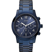 Guess Men's Blue Ion Plated Chronograph Watch - Blue