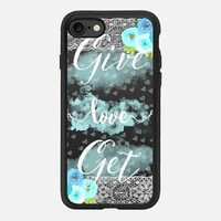 Give Love Get Love iPhone 7 Capa by Li Zamperini Art | Casetify