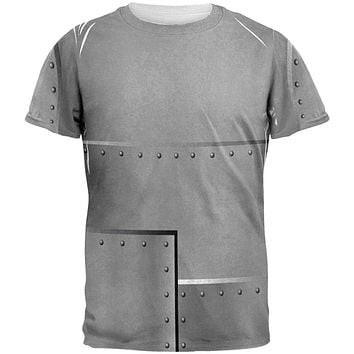 Halloween Robot Rivets Costume Steel All Over Mens T Shirt