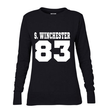 Sam Winchester DOB Ladies Mid-Scoop French Terry Crew-neck Sweatshirt| Supernatural T-Shirt | Date of Birth